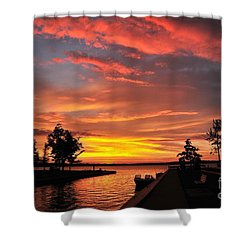 Mitchell State Park Cadillac Michigan Shower Curtain by Terri Gostola