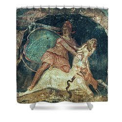 Mithras Killing The Bull Shower Curtain by Granger