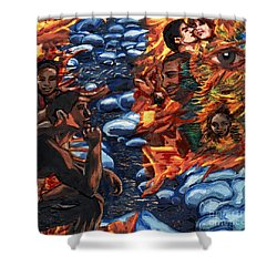 Mitosis Microbiology Landscapes Series Shower Curtain