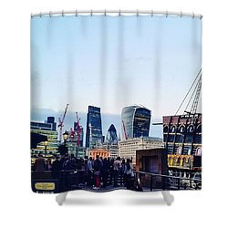 Mix Of Old And New In London Shower Curtain