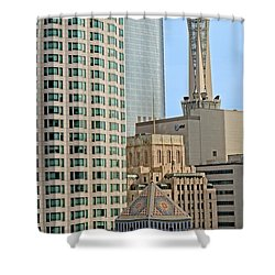 Mixed Architecture Shower Curtain