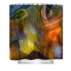 Mixed Emotions Shower Curtain by Linda Sannuti