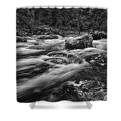 Mixed Emotions Shower Curtain by Mark Lucey