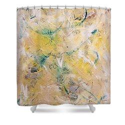 Mixed-media Free Fall Shower Curtain