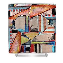 Mixed Messages Shower Curtain by Mindy Newman