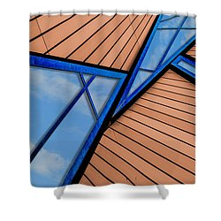 Shower Curtain featuring the photograph Mixed Perspective by Paul Wear