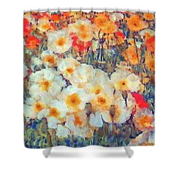 Mixed Poppies Shower Curtain