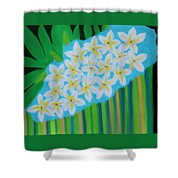 Mixed Up Plumaria Shower Curtain