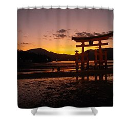sunset of Miyajima Shower Curtain
