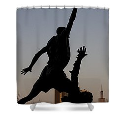 MJ Shower Curtain by Andrei Shliakhau