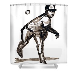 Mlb The Heater Shower Curtain by Seth Weaver