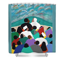 Mlk Called To Serve Shower Curtain