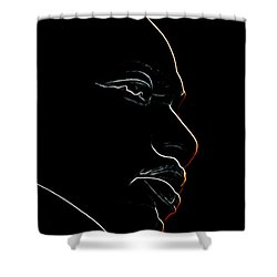 Mlk Red Outline Shower Curtain