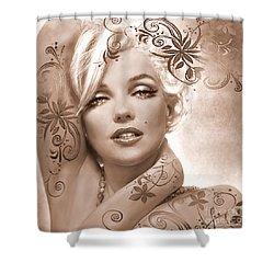 Mm 127 Deco Sepia Shower Curtain
