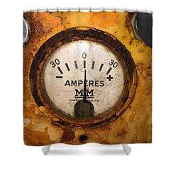 Mm Amperes Gauge Shower Curtain