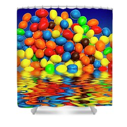 Shower Curtain featuring the photograph Mm Chocolate Sweets by David French