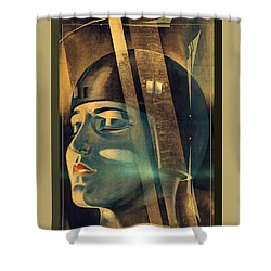 Metropolis Maria Transformation Shower Curtain