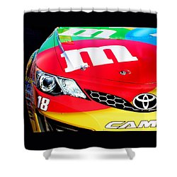 Mm's Nascar Shower Curtain by Natalie Ortiz
