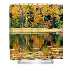 Mn Fall Fishing Shower Curtain