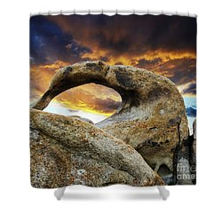 Mobious Arch California 7 Shower Curtain by Bob Christopher