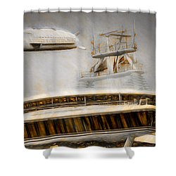 Moby Air Shower Curtain