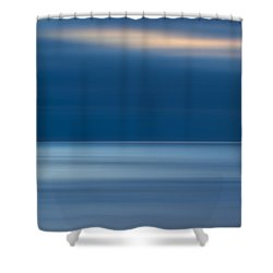 M'ocean 10 Shower Curtain by Peter Tellone