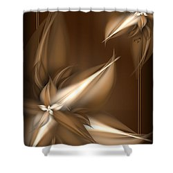 Mocha Cream Swirl Shower Curtain
