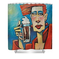 Mocha Double Shot Shower Curtain by Tim Nyberg