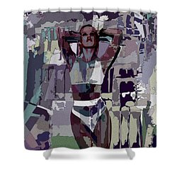 Mocha Musing Shower Curtain