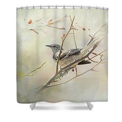 Mockingbird II Shower Curtain