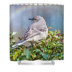 Mockingbird Rainbow Shower Curtain