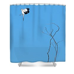 Mockingbird Up Shower Curtain