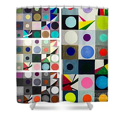 Mod Party Shower Curtain