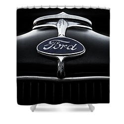 Shower Curtain featuring the digital art Model A Ford by Douglas Pittman