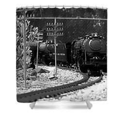 Model Locomotive Shower Curtain by Debra Forand
