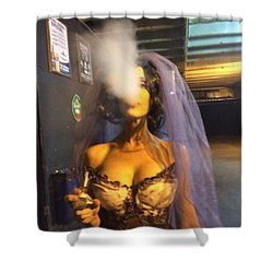 Model Vaper Shower Curtain