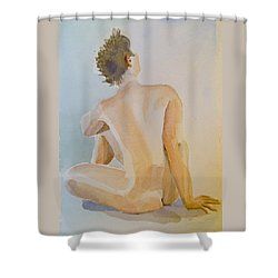 modell akvarell 2013 04 20-21 1 foto 143 Up to 51 x 76 cm Shower Curtain