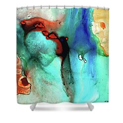 Shower Curtain featuring the painting Modern Abstract Art - Color Rhapsody - Sharon Cummings by Sharon Cummings