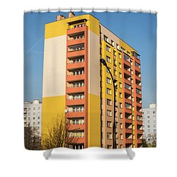 Shower Curtain featuring the photograph Modern Apartment Buildings by Juli Scalzi