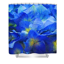 Shower Curtain featuring the photograph Modern Art - Floral In Blue by Merton Allen