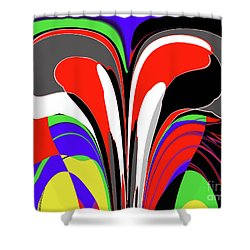 Modern Art Shower Curtain by Methune Hively