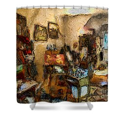 Modern Art Studio Shower Curtain