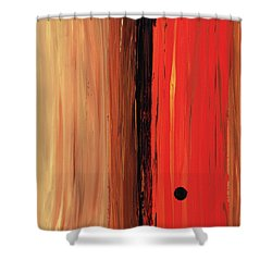 Modern Art - The Power Of One Panel 1 - Sharon Cummings Shower Curtain by Sharon Cummings