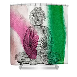 Modern Buddha Shower Curtain