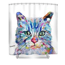 Modern Cat Shower Curtain