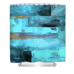 Modern Contemporary 5 Shower Curtain