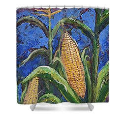 Modern Expressionist Restaurant Art Corn On The Cob Shower Curtain