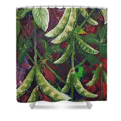Modern Expressionist Restaurant Art Soybean Field Painting Shower Curtain