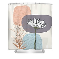 Modern Fall Floral 2- Art By Linda Woods Shower Curtain