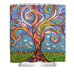 Modern Impasto Expressionist Painting  Shower Curtain